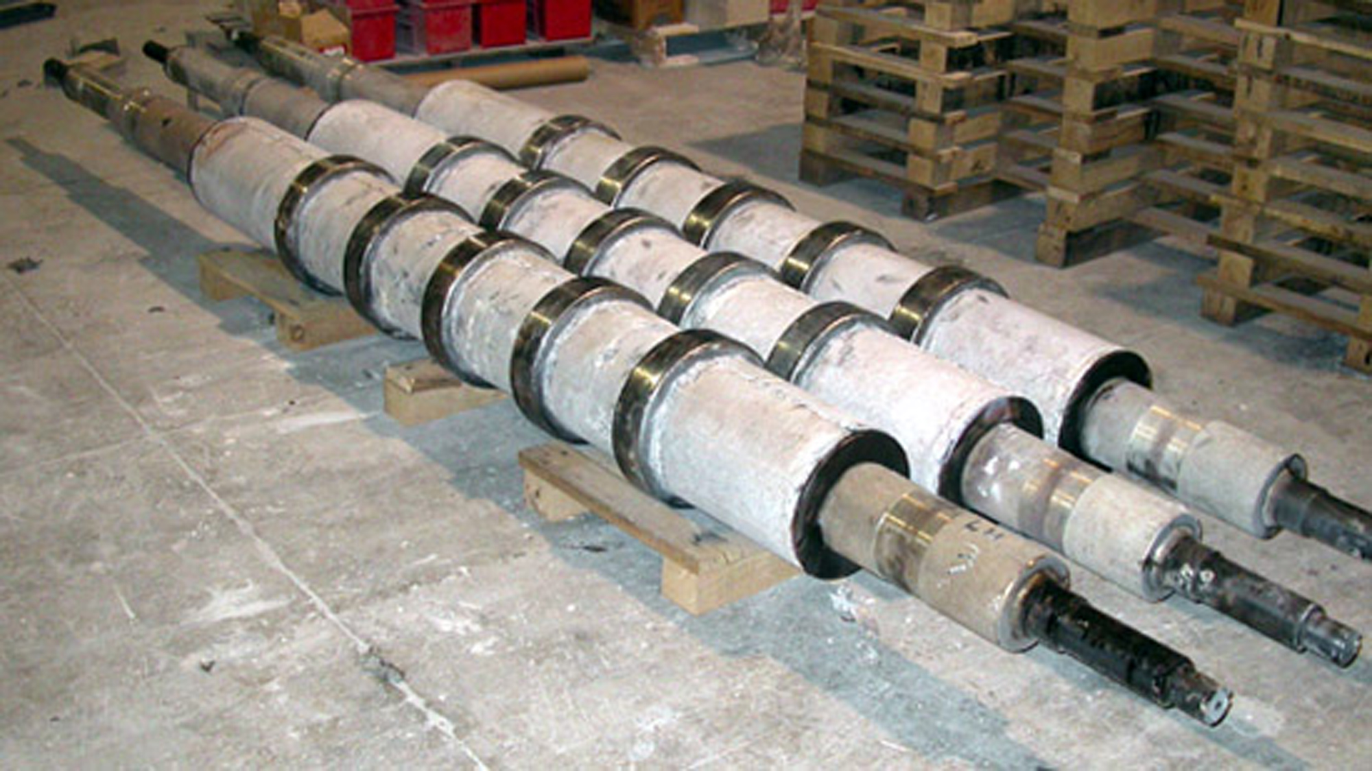 Water cooled furnace roll assemblies